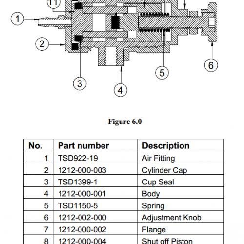 Techcon TS1212-000-004 Shut-off Piston