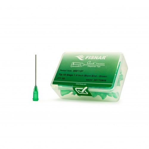 "Fisnar 18ga Green 1.5"" Blunt End Tip - 50 Pack"