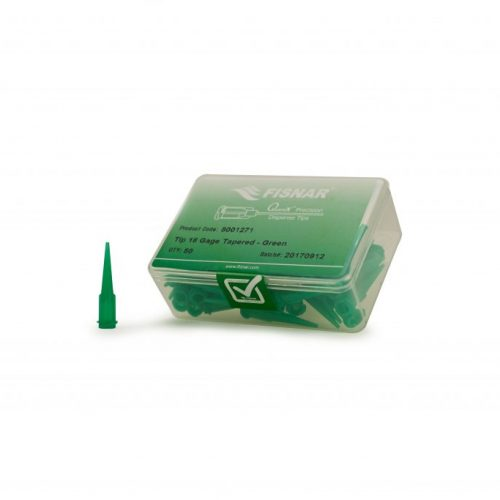 "Fisnar 18ga Green 0.033"" I.D. Tapered Tip - 50 Pack"