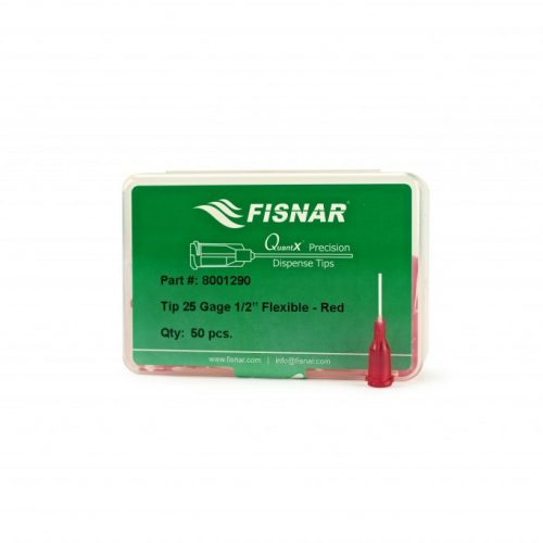 "Fisnar 25ga Red 0.5"" Flexible Tip - 50 Pack"